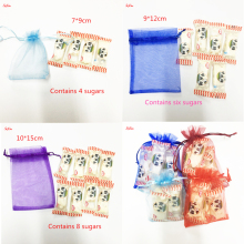50pcs 7x9 9x12 10x15 13x18CM Organza Sachet  Bag Jewelry Packaging Bags Wedding Party Decoration Drawable Bags Gift Pouches 6Z