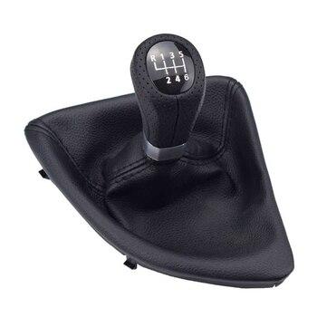 Perilla de cambio de velocidad de 6 velocidades 5 con ajuste de arranque para BMW E87 X1, perilla de palanca de cambios izquierda con accesorios para MCar