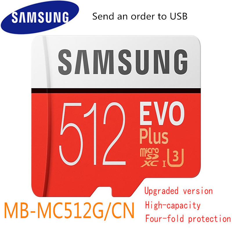 Carte Micro Sd Samsung Evo Plus 512 go Sdhc Sdxc Grade Evo + classe 10 C10 Uhs Tf cartes Trans Flash Microsd Original