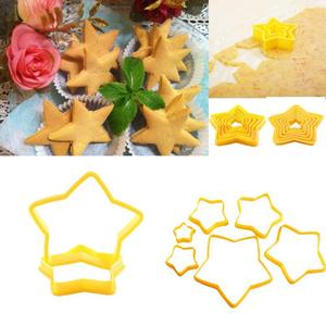 6pcs/set Cookies Cutter Frame Fondant Biscuits Cake Mould DIY Star Moulds Christmas Cookie Maker Cake Decorating Tool TSLM1