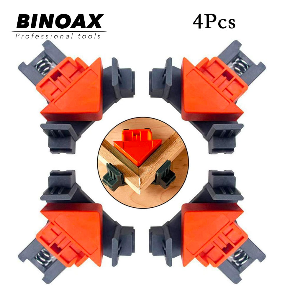 4Pcs 90 Degree Right Angle Clamps Fixing Clips Adjustable Corner Clamp For Welding