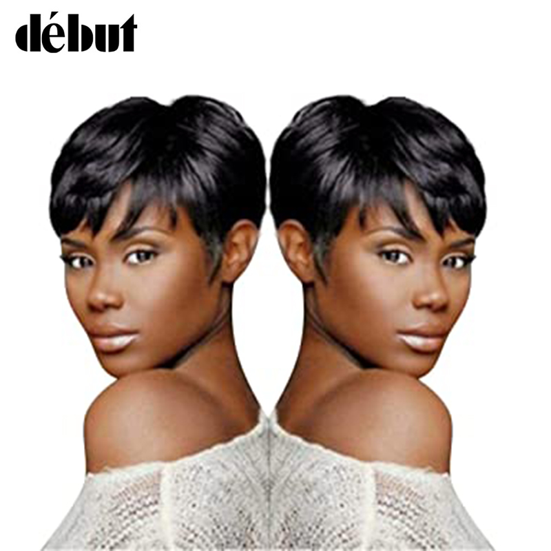 Debut Brazilian Human Hair Wigs Curly Short Human Hair Wig P1b/30 Piano Color Bob Wig 9 Inch Human Hair Wigs For Black Women
