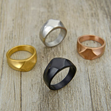 Valily Jewelry Men's Unique Simple Design Black Color Party Jewelry Trendy Band Ring for women cuff finger ring for party