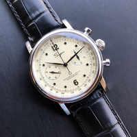 Antike Original Männer Chronograph Uhren NATO Sapphire Uhr Original ST19 Bewegung Männer Pilot Mechanische Armbanduhr 1963