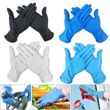 100 PCS Disposable Gloves Latex Dishwashing Work/Rubber/Garden/Kitchen/Medical Gloves For Left and Right Hand Universal 3 Color
