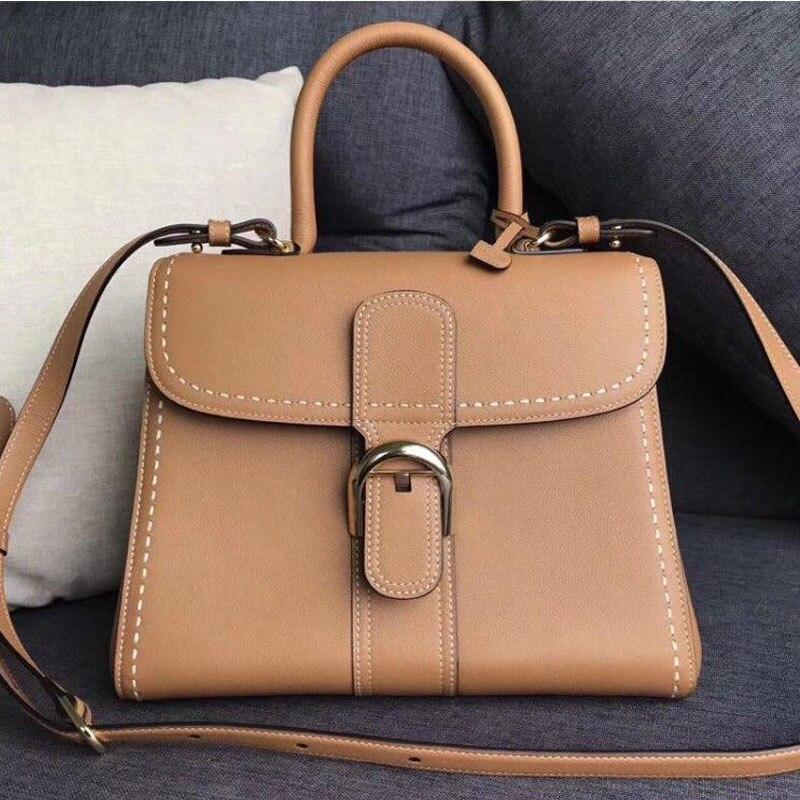 Women Handbag Geuine Leather Korean Fashion Style Female Tote Bag Shopper Purse Brand Designer Shoulder  Carry Bag
