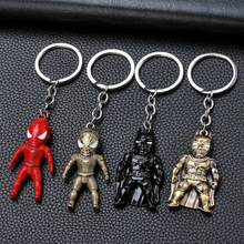 5pcs lot marvel movie masks avengers hulk captain america batman spiderman ironman party mask boy gift action figures toys e Iron Man Marvel Avengers Thor's Hammer Keychains Captain America Shield Hulk Batman Mask Men Metal Key Chain Pendent Keyrings