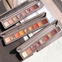 NOVO 9 Colors Galaxy Shimmer Matte Eye Shadow Palette Pressed Glitter Smoky Pigm