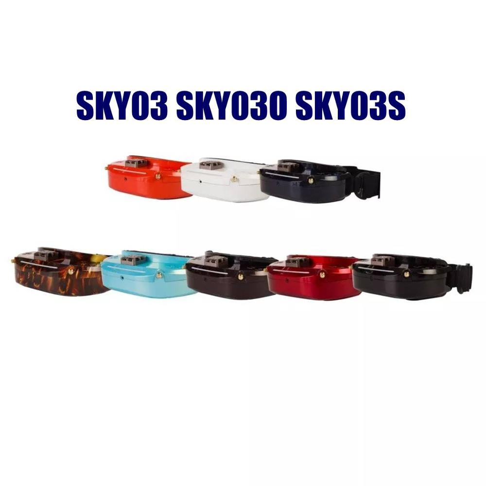 Skyzone SKY03 SKY03O Oled 5.8GHz 48CH Diversity FPV Goggles Support OSD DVR HDMI With Head Tracker Fan LED For RC image