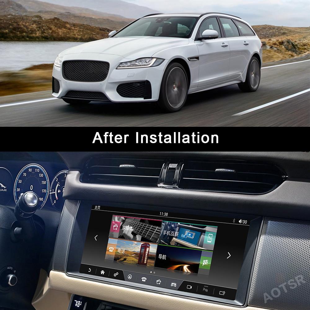 "AOTSR Android 9 Car Radio For Jaguar XF XFL 2016 2017 2018 Multimedia Video Player GPS Navigation DSP 10.25"" IPS Head Unit"