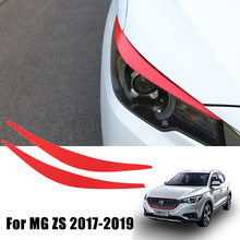 ملصق حواجب للمصباح الأمامي للسيارة ، لـ MG ZS ، 2017 ، 2018 ، 2019 ، 2020 ، MGZS ، MG ، ZX ، ملصقات وإكسسوارات الديكور