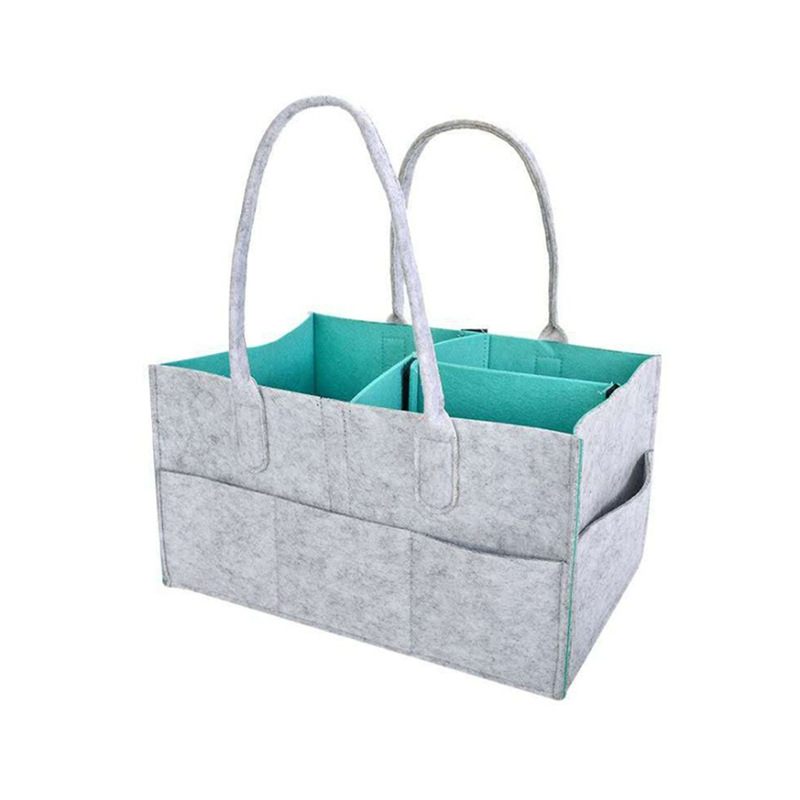 New Style Stereo Felt Hand Make-up Bag Large Capacity Travel Travel Washed Cosmetic Bag Felt Storage Bag