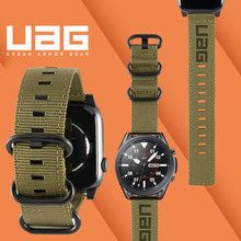 22 24 мм нейлоновый ремешок для наручных часов для samsung Galaxy watch 3 45 мм GALAXY Watch 46mm спортивные петли для huawei GT2 PRO браслет
