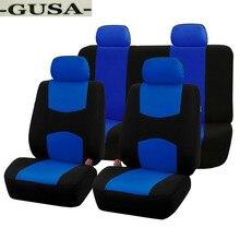 Высокое качество одноразовые чехлы для автомобильных сидений Передняя и задняя крышка заднего сиденья GUSA ткань универсальный набор протекторов для сидений-черный