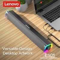Lenovo-altavoz con cable para ordenador portátil, reproductor de música estéreo envolvente, Subwoofer, para Macbook, Notebook y PC, L101