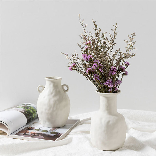 Nordic Ins Ceramic Vase Home Ornaments White Vegetarian Creative Ceramic Flower Pot Vases Home Decorations Craft Gifts 4