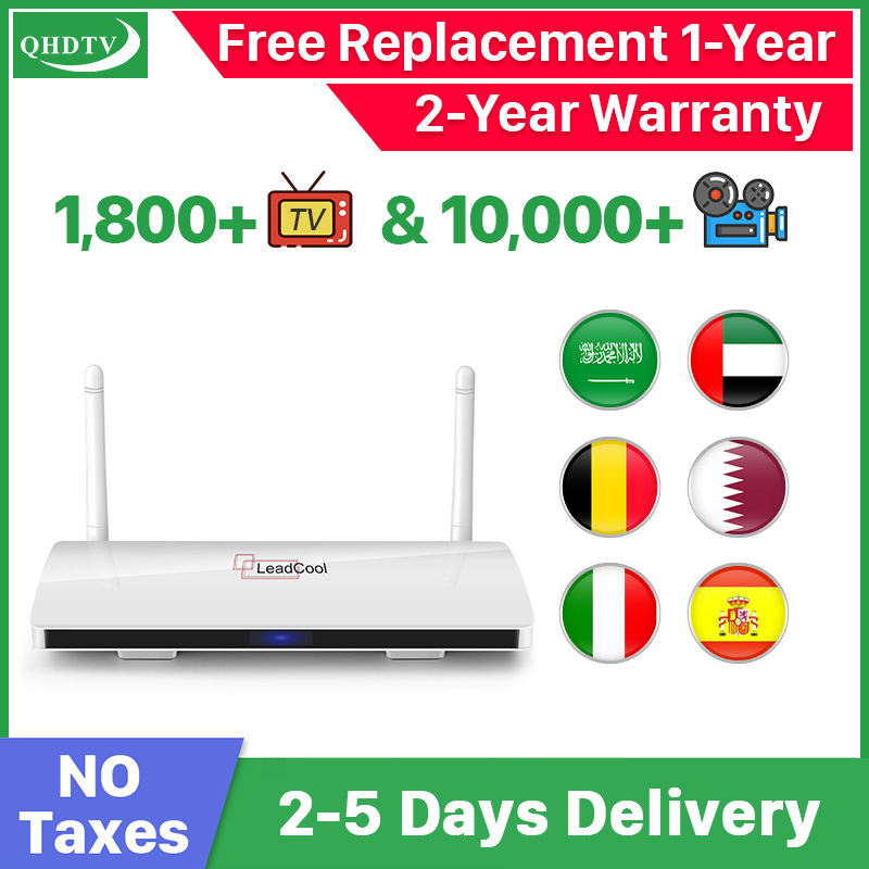 Leadcool IPTV Arabic Box 1 Year IPTV Spain Belgium Netherlands Android 9.0 TV Box Arabic Germany Morocco IPTV Top Box