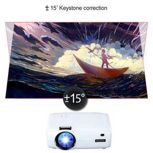 Image 4 - WZATCO E600 الروبوت 10.0 واي فاي الذكية المحمولة مصغرة جهاز عرض (بروجكتور) ليد دعم كامل HD 1080p 4K AC3 الفيديو المسرح المنزلي متعاطي المخدرات Proyector