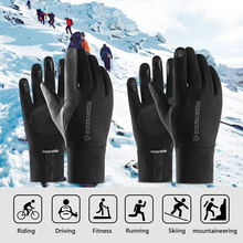 Camping Winter Warm Gloves Unisex Rainproof Touchscreen Windproof Sports with Lining For Skiing  Hiking