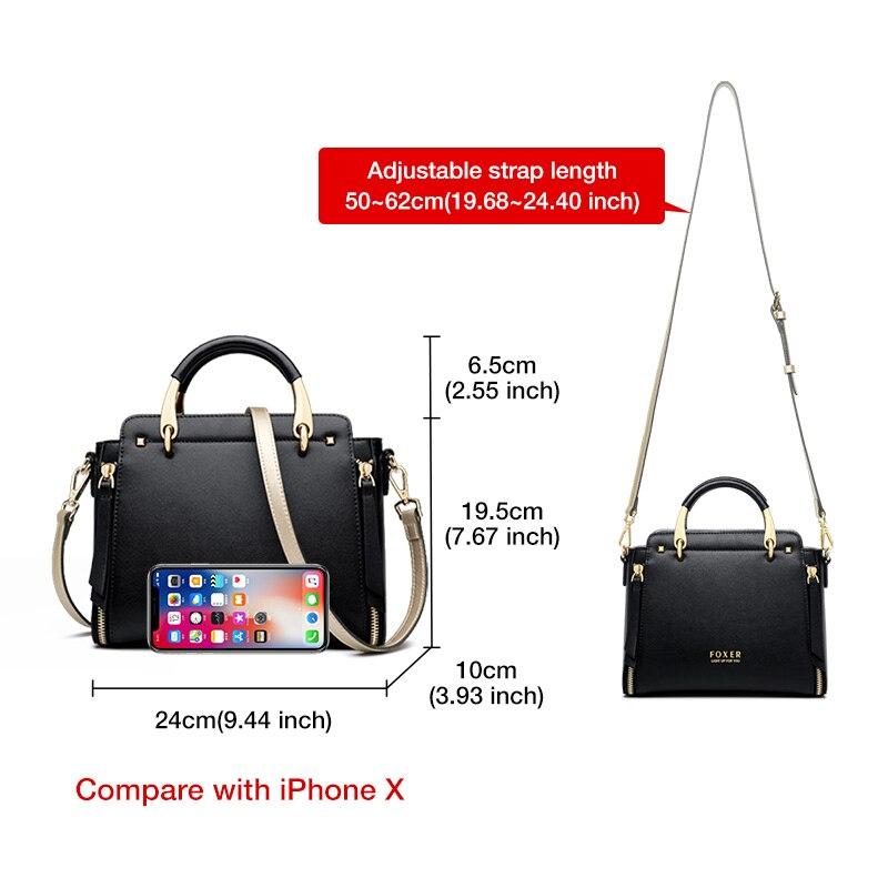 FOXER Justy Women Leather Shoulder Bag