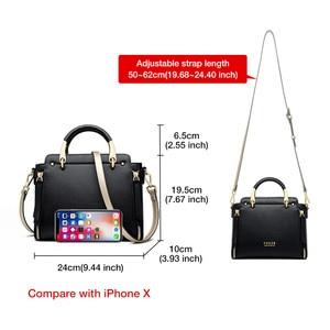 Image 3 - Foxer bolsa feminina chique totes feminino dividir sacos de ombro couro grande capacidade bolsas à moda sacos do mensageiro 928019f
