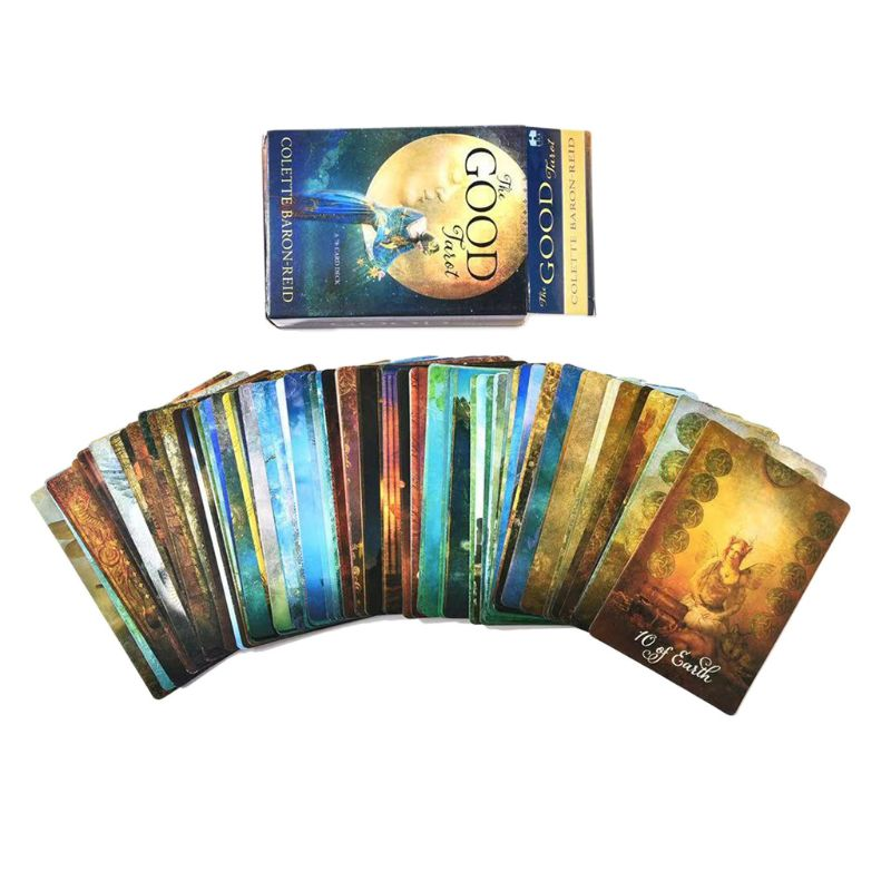 The Good Tarot 78 Card Deck Full English Tarot Guidance Fate Divination Prophecy Board Game Playing Card for Family Party