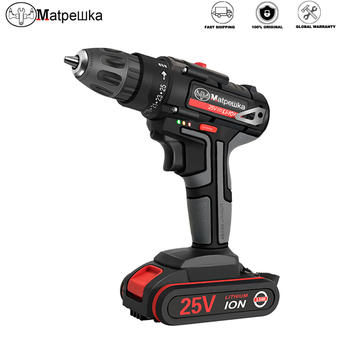 25V Electric Screwdriver Household Cordless Electric Drill Hand-held Rechargeable Lithium-ion Battery Electric Screwdriver+Gift xltown25v 2000ma impact drill rechargeable lithium battery electric screwdriver multifunction cordless household electric drill