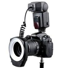 Godox ML 150 매크로 링 플래시 스피드 라이트 가이드 번호 10 캐논 니콘 pentax 올림푸스 소니 카메라에 대한 6 렌즈 어댑터 링