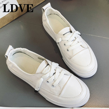 summer fashion women casual shoes lace up comfortable flat casual shoes slipony woman footwear leisure women canvas shoes Spring White Shoes Light Leather Casual Canvas Shoes Women Shoes Lace Up Korean Set Foot Pedal Flat Shoes Female Summer Footwear