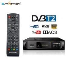 Satxtrem dvb t2 tdt tv receptor prefixo para sintonizador de tv digital DVB-T2 receptor wi-fi conjunto caixa superior ac3 h.264 hdtv 1080p DVB-C decodificador