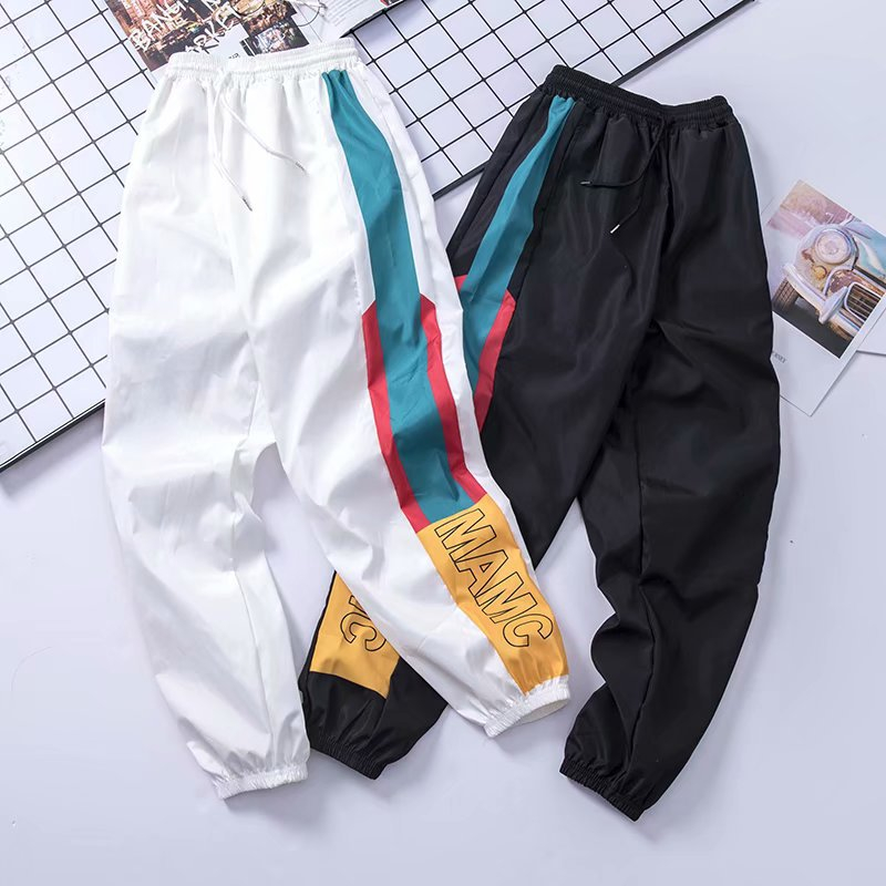 2019 Men Sweatpants Loose Men Joggers Pants Hip Hop Sportswear Track Harem Unisex Streetwear Pant Side Stripe Track Jogger