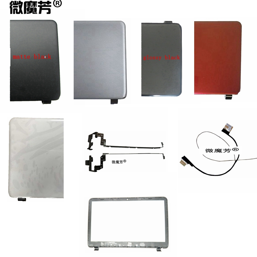 Laptop <font><b>Top</b></font> LCD Back <font><b>Cover</b></font>/ Bezel Front Frame/Hinges For <font><b>HP</b></font> 15-G 15-R 15-T 15-H 15.6