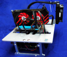 A4 Mini ITX MATX ATX PC Test Bench Open Frame USB 3.0 Water Cooling Fan Case DIY Bare Overclocking HTPC Support Graphics Card
