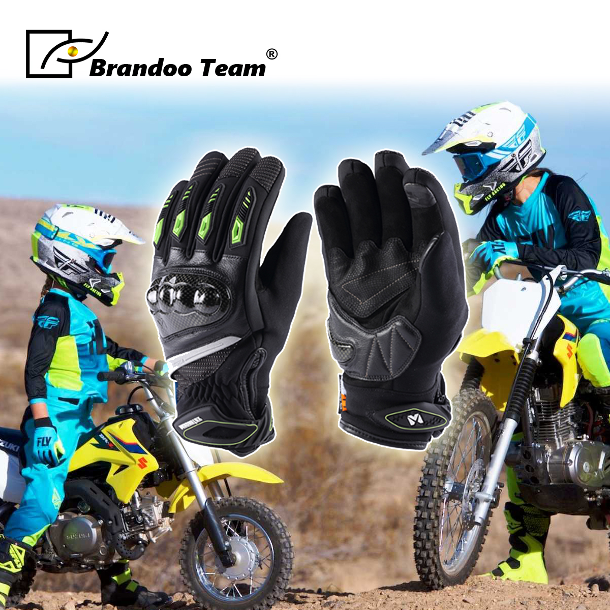 Kids Gloves Warm Full Finger Motorcycle Gloves Child Moto Luvas Motocross Leather Motorbike Guantes Children Racing Moto Gloves