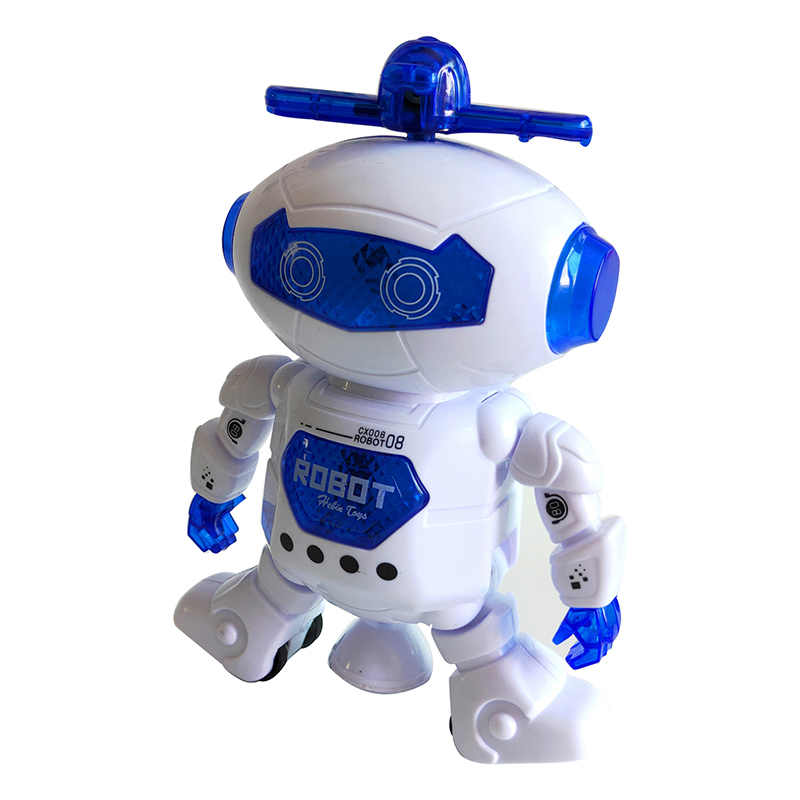 New Space Dancing Electric Robot 360 Degree Rotating Light Music Infrared Toy Dancing Robot Toy