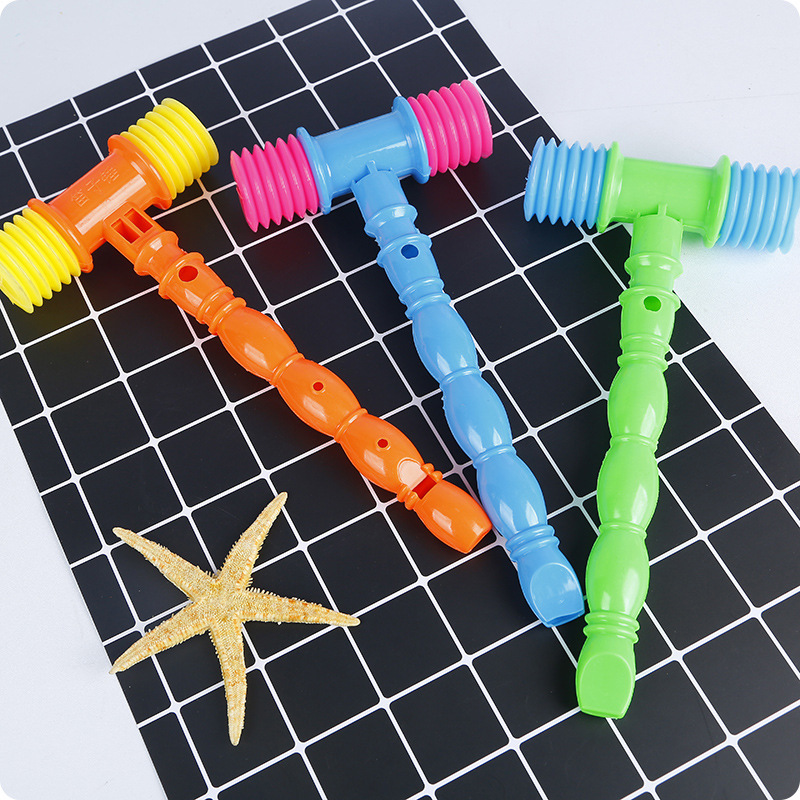 Flute Hammer Toy Ring Hammer Straps And Whistle-And-out Sound Of Children Plastic Infants Small Toy Parent And Child Interactive