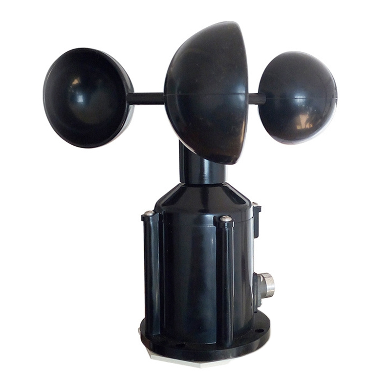 Wind Speed Sensor Anemometer Three Cups Aluminium Alloyed Pulse Signal Output Sensors Instrument Meteorological Photoelectric Se|Speed Measuring Instruments| |  - title=