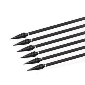 Image 5 - 6pcs 높은 탄소 철강 화살표 머리 Broadheads 팁 화살표 포인트 양궁 화살촉 복합 활 석궁 Recurve 활