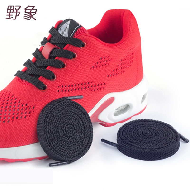 Daily Sneakers Women Shoe Laces Colored Flat Shoelaces For Women Men Shoes Solid Nylon White Black Gray Red Pink Blue Shoelaces