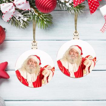 5 Styles Wooden Xmas Decoration Funny Santa Claus Hanging Ornament Pendant For Xmas Tree Festival Kids Gifts Car Home Supplies image
