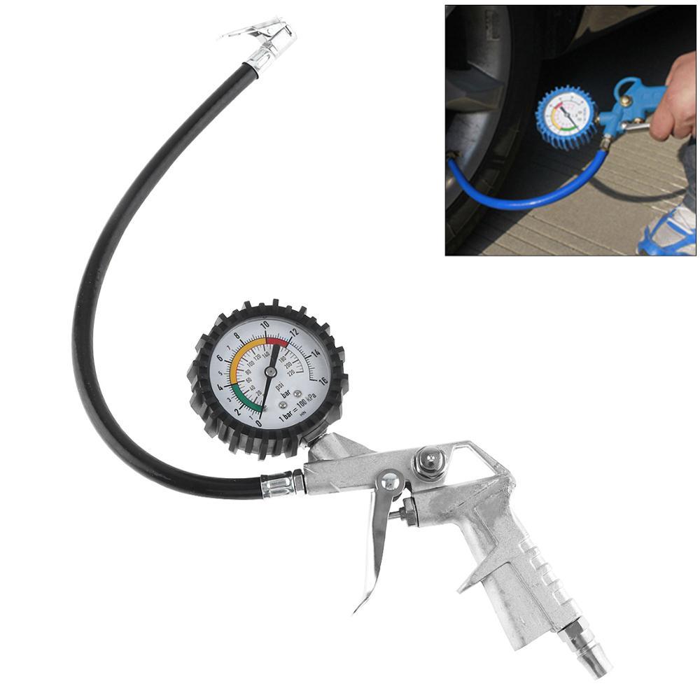 Auto Auto Lkw Motorrad Pistole Flexible Schlauch 220 PSI Reifen Manometer Air Inflator Gun Fit für Auto Auto Motorrad fahrrad