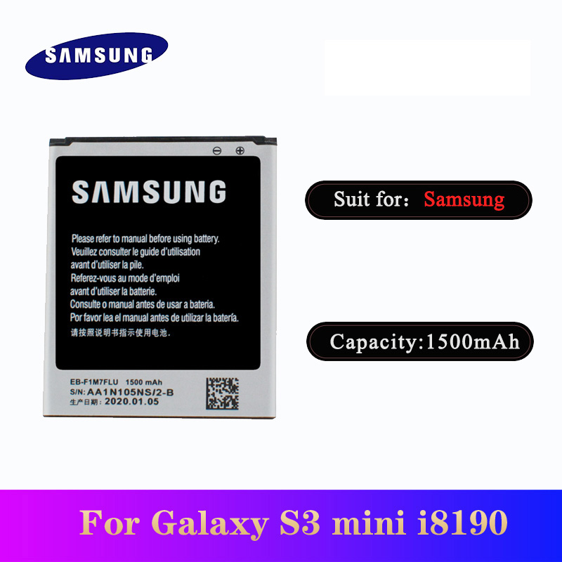 5pcs/lot High Quality EB-F1M7FLU Battery For Samsung Galaxy S3 Mini i8190 i8160 i8200 Phone Bateria 1500mAh In Stock image