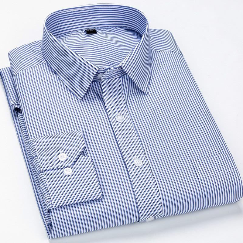 Large 8XL 7XL 6XL 5XL Mens Dress Shirts Plus Size Casual Striped Shirt & Plaid Shirt Men Shirt Long Sleeve Vintage Shirt Top
