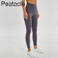 Peatacle Leggins Sport Women Fitness Yoga Pants High Waist Tights Tummy Control Leggings Gym Energy Seamless Butt Lifrint Solid