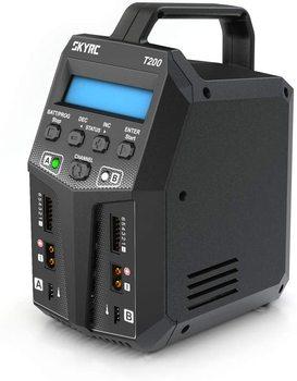 SKYRC T200 Balance cargador 12A 100W Dual XT60 enchufe 10W descargador para LiHV LiPo Li-ion vida NiMH NiCD Pb batería AGM frío modos