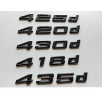 Preto 420d 418d 425d 428d 430d 435d 440d 444d 450d Número Letras Emblemas Emblema Emblemas Traseiros para BMW série 4 F32 F33 F82 F83