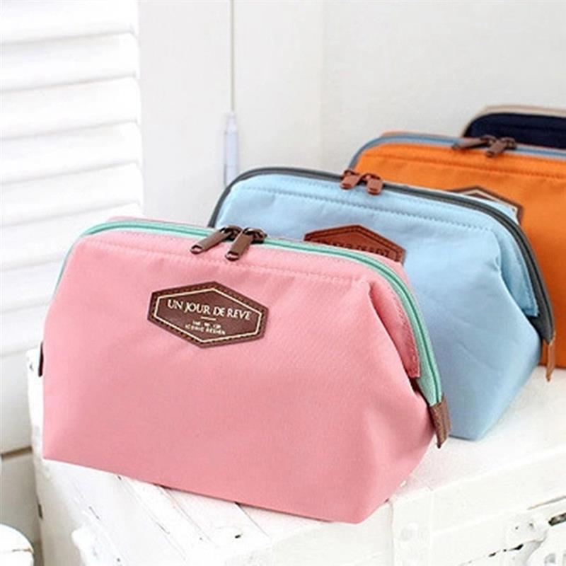 Fashion Casual Women Make Up Bag Cosmetic Pouch Clutch Handbag Purses Case Beauty Cosmetic Bag Organizer Makeup Bag For Travel