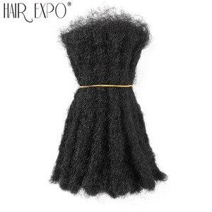 Image 1 - 10inch Crochet Hair Handmade Dreadlocks Synthetic Hair Locs Reggae Crochet Braiding Hair Extension For Black Women/Man