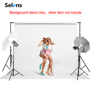 Image 5 - PHOTO BACKDROP STAND KIT Photo Studio Background Support T Shape Backdrop for Studio Photo 152cm,200cm, 260cm, 280cm, 300cm