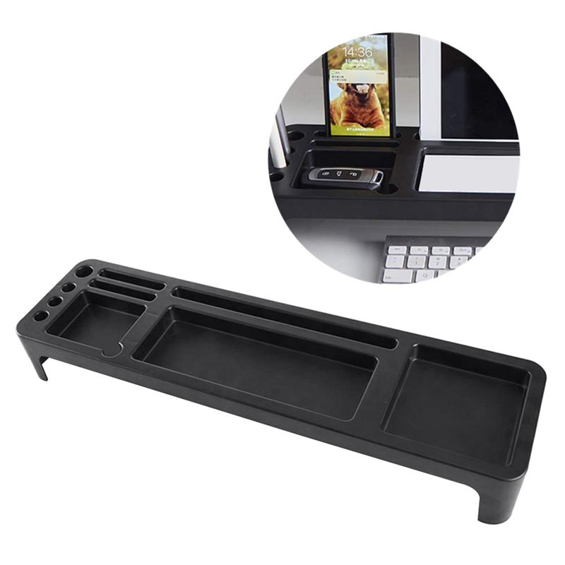 Tabletop Storage Shelf,Multi-Functional Office Storage Supplies,Computer Keyboard Sorting Rack,Stationery Organizer